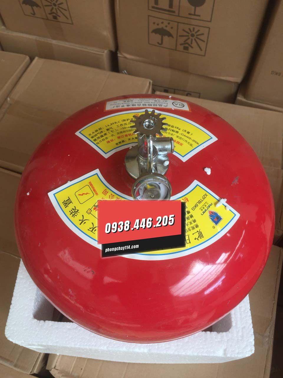 Bình cầu chữa cháy tự động Renan XZFTBL8 bột abc 8kg