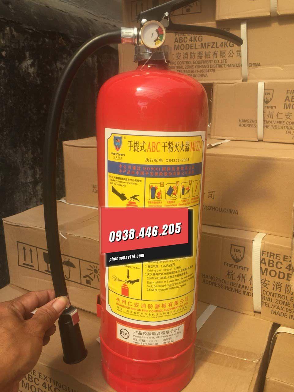 Bình chữa cháy Renan bột BC/ABC mfzl4 4kg
