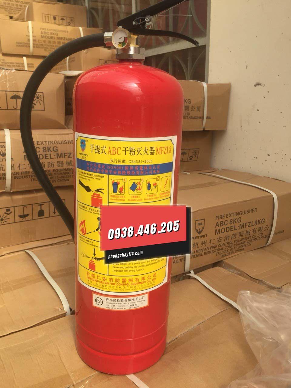 Bình chữa cháy Renan bột BC/ABC mfzl8 8kg
