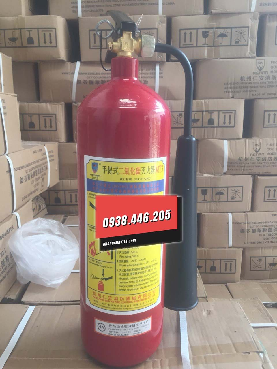 Bình chữa cháy Renan co2 mt3 3kg