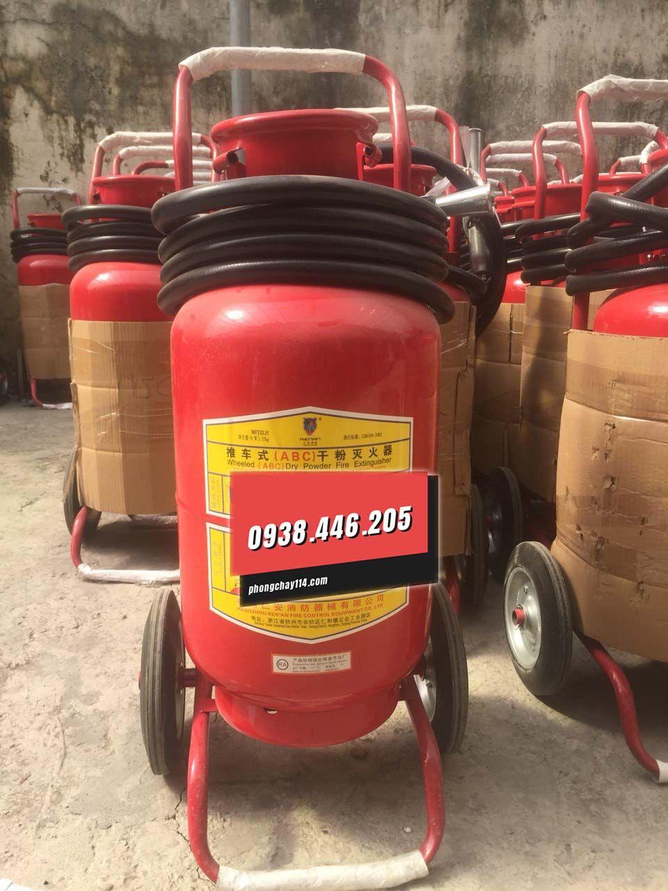 Bình chữa cháy xe đẩy Renan bột BC/ABC MFTZL35 35kg
