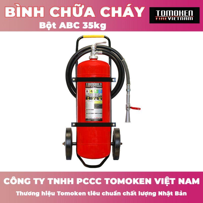 Bình chữa cháy xe đẩy Tomoken bột ABC 35kg TMK-VJ-ABC/35kg