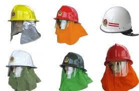 mũ chống cháy hàn quốc có đèn (đèn vàng)