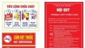 Bảng báo giá nội quy tiêu lệnh chữa cháy