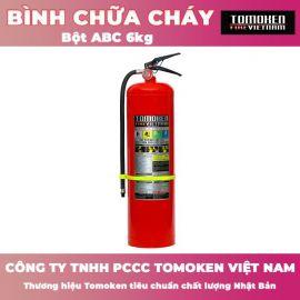 Bình chữa cháy xách tay Tomoken bột ABC 6kg TMK-VJ-ABC/6kg