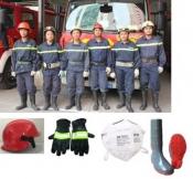Bộ quần áo chữa cháy 5 món xanh đen (TT56)