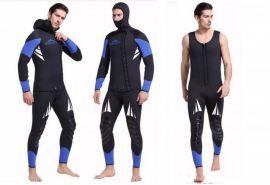 Bộ quần áo lặn 5mm, dài tay (hai mảnh, dính liền mũ)