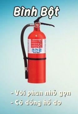 Cách sử dụng bình chữa cháy bột BC MFZ8