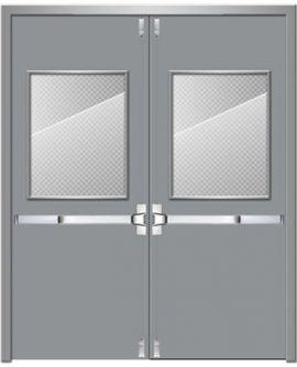 Cửa thép chống cháy dạng cửa đôi TD 203