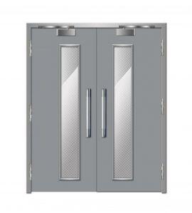 Cửa thép chống cháy dạng cửa đôi TD 205
