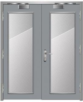 Cửa thép chống cháy dạng cửa đôi TD 206
