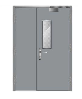 Cửa thép chống cháy dạng cửa đôi TD 302
