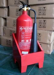 Kệ đơn đựng bình chữa cháy loại 1 bình 4kg, 3kg, 8kg