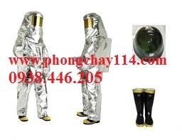 Quần áo chống cháy tráng nhôm 200 độ C - quần áo tráng bạc amiang