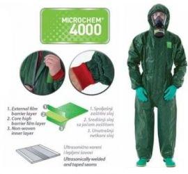 Quần áo chống hoá chất Microchem 4000
