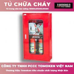 Tủ chữa cháy âm tường Tomoken 600x1200x200